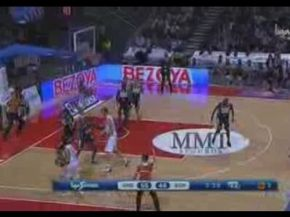 Basketball Player Hits Near Impossible Three Pointer!