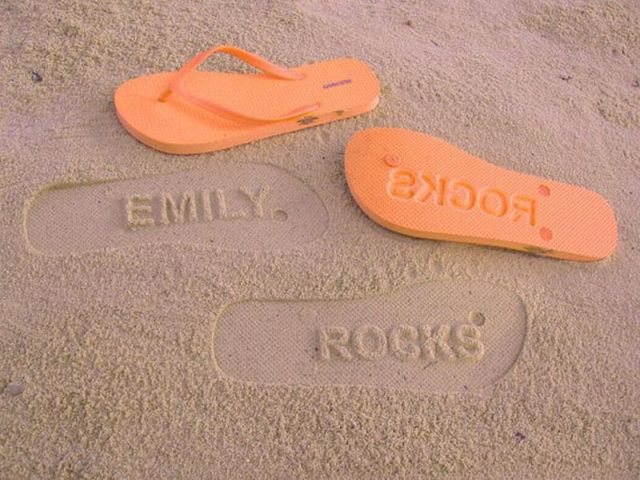 Awesome Flip Flop Footprints