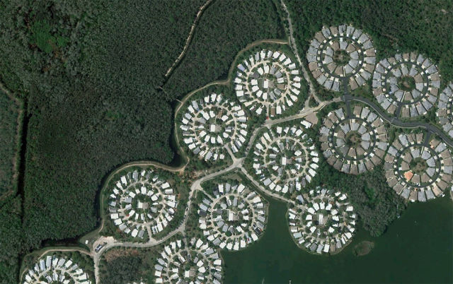 Man made Landscapes From Space