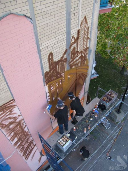 Incredible Five-Storey Graffiti Masterpiece