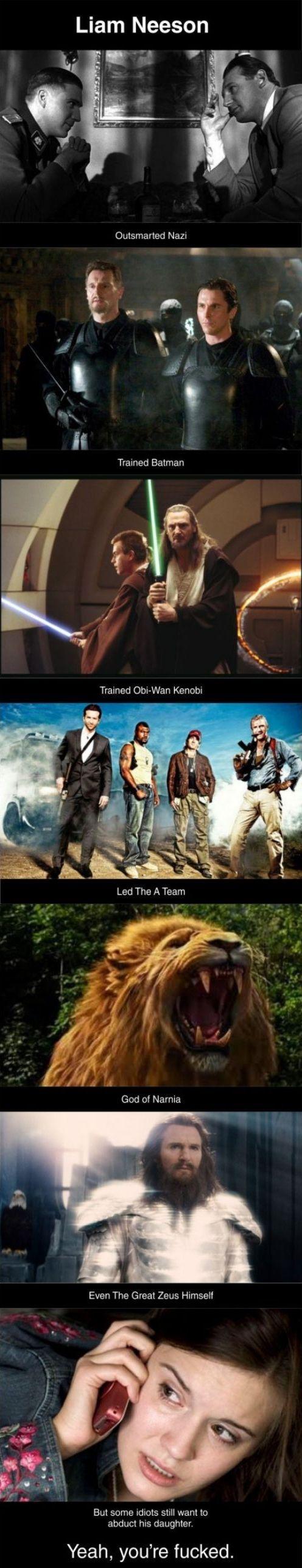 Liam Neeson Is a Badass