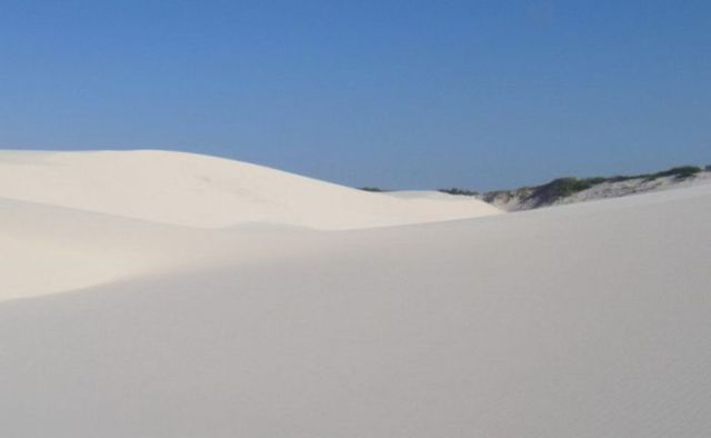 Beautiful White Sand Dunes in Brazil