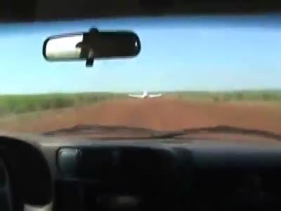 Crazy Brazilian Police Ram Runaway Plane with Their Own Car!