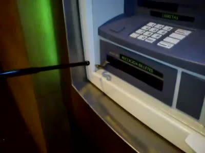 Would You Dare to Withdraw Money from This Spanish ATM?