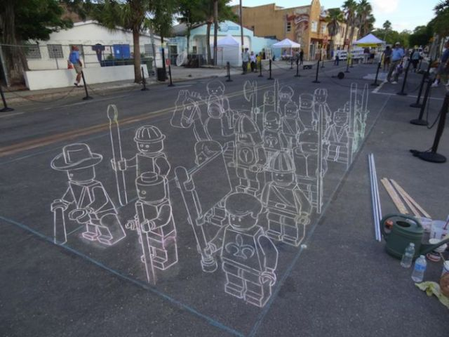Awesome 3D Sidewalk Chalk Drawing 7 Pics Picture 2