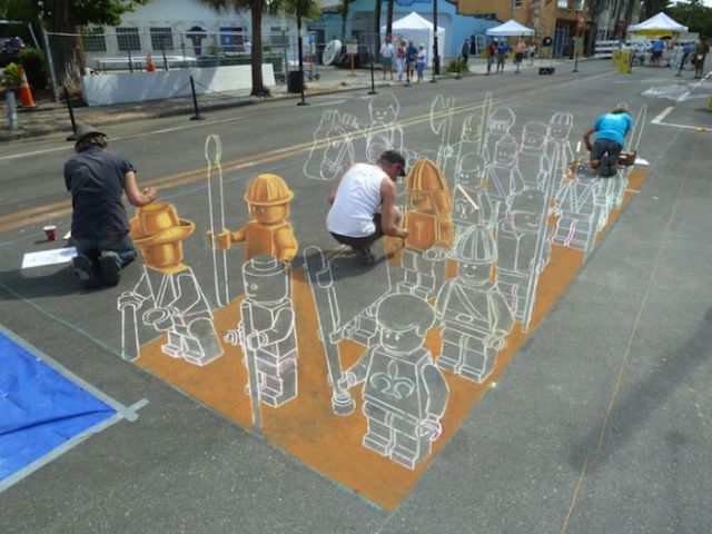 Awesome 3D Sidewalk Chalk Drawing