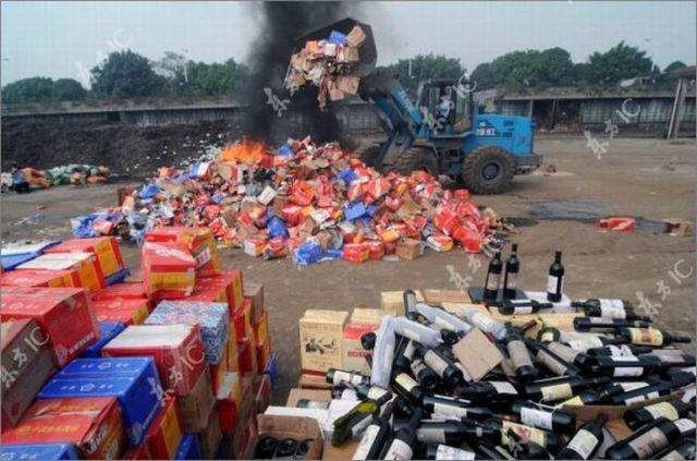 Counterfeit Goods' Destruction in China