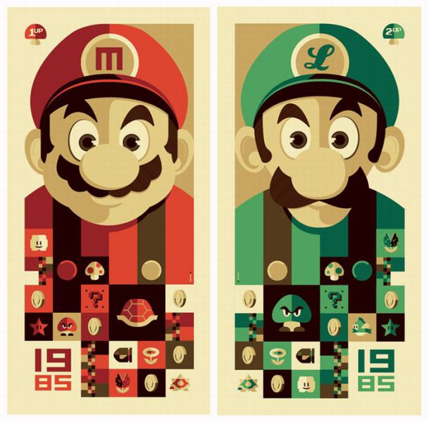 Creative Super Mario Brothers Illustrations