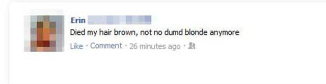 Embarrassing & Disastrous Facebook Status Updates