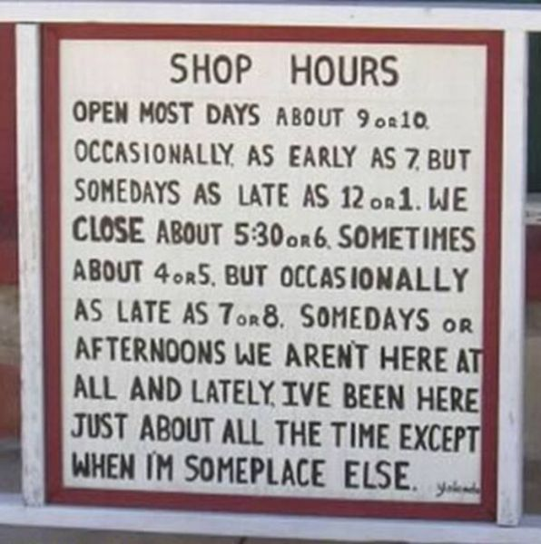 "Failed ""Closed"" Signs"