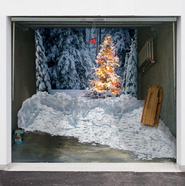 25 Awesome Garage Door Design Ideas: Garage Door 3D Designs For Christmas (10 Pics)