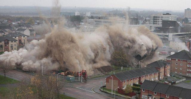 Incredible Building Explosion
