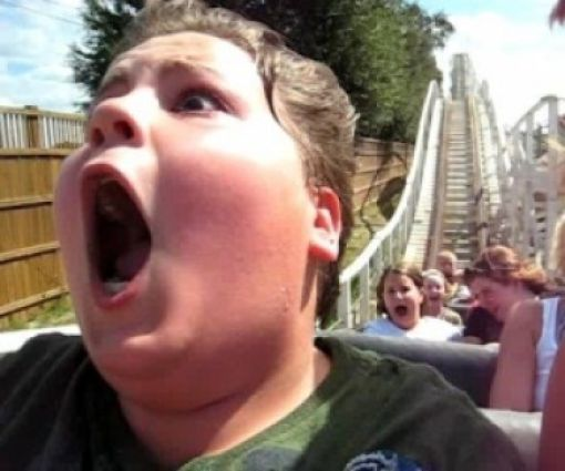 Completely Freaked Out Roller Coaster Ride Faces