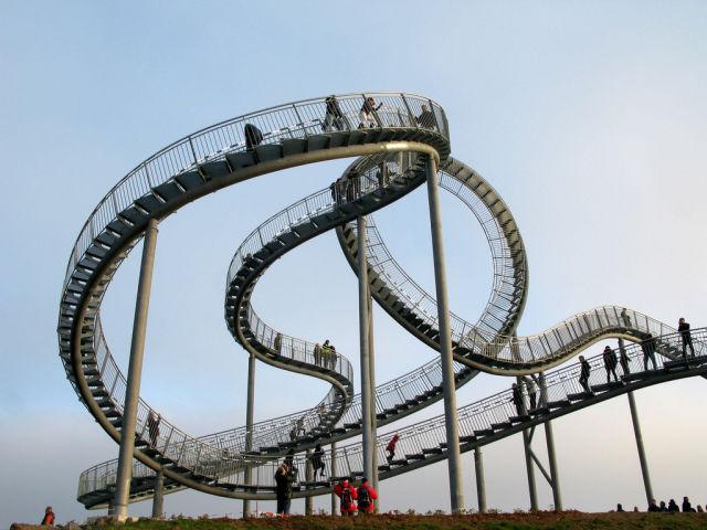 Unusual Roller Coaster in Germany