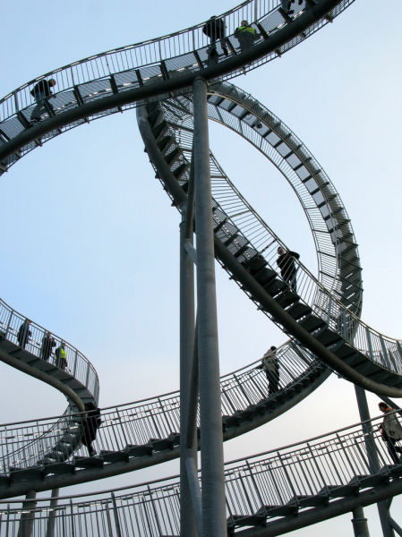 Unusual Roller Coaster in Germany