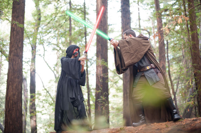 Unforgettable Star Wars Inspired Engagement Pictures