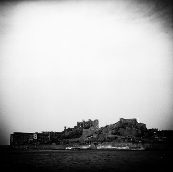 Black & White Photos of Ghost Island of Japan