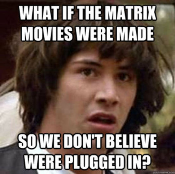 Keanu Reeves Is Super into Conspiracy