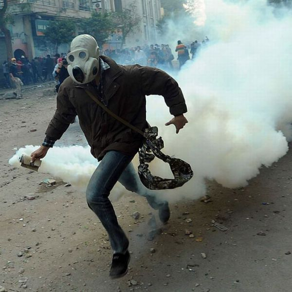 Egyptian Protesters Found a Way to Protect Themselves