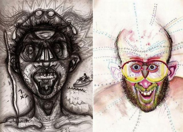 Self-Portraits Created on Drugs