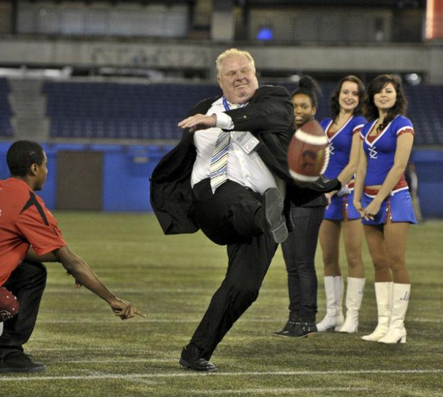 High Stepping Toronto Mayor Kicking a Football Memes
