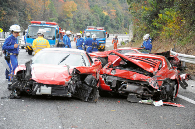 Probably the Most Expensive Car Crash Ever