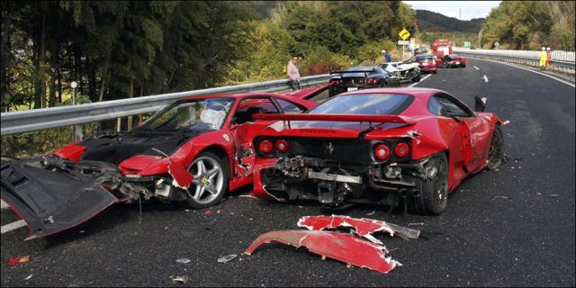 Probably the most expensive car crash ever 10 pics for There are usually collisions in a motor vehicle crash