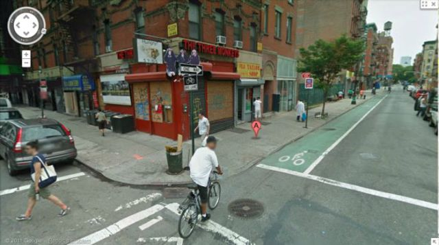 Google Street View of Popular Album Covers
