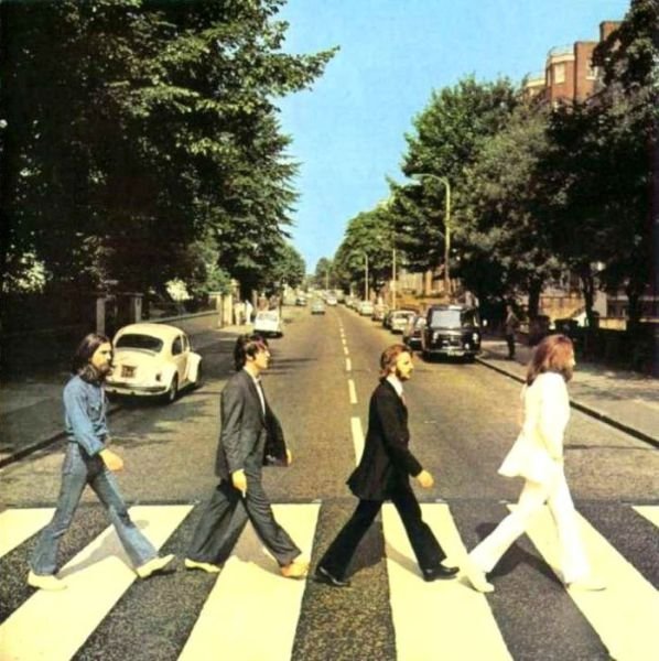 Google Street View of Popular Album Covers
