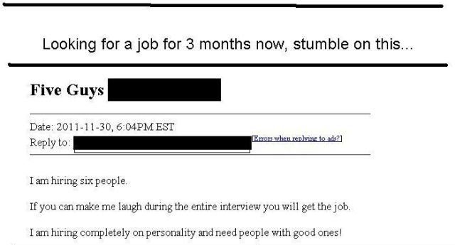 The Best Job Application Ever