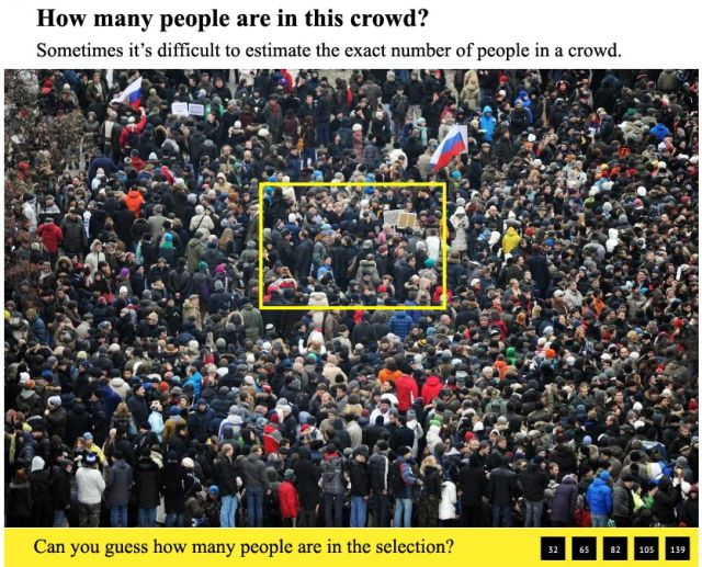 Guess How Many People in This Crowd