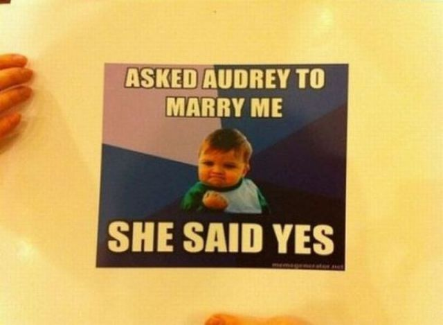 A Very Creative Marriage Proposal