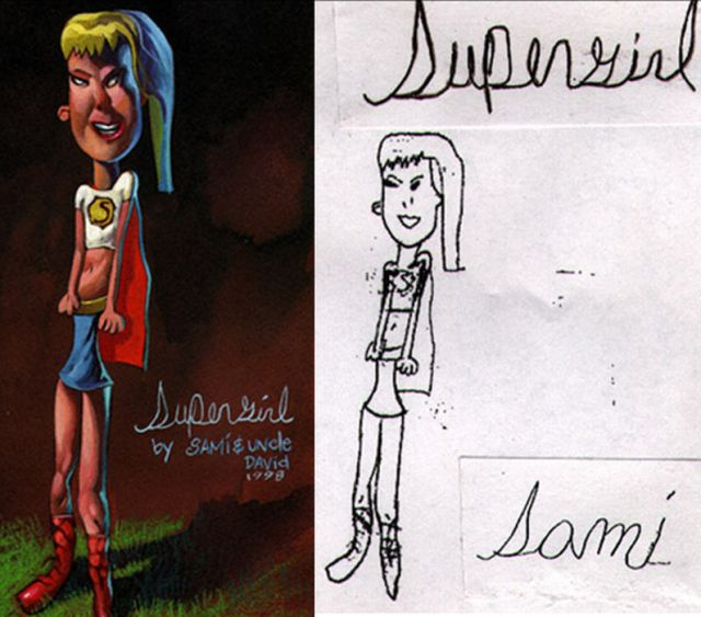 Children's Drawings with a Professional Retouch