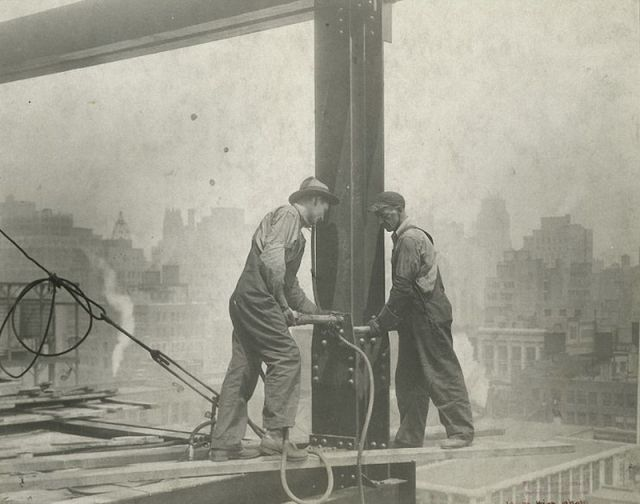 B&W Photos of NYC Construction Workers