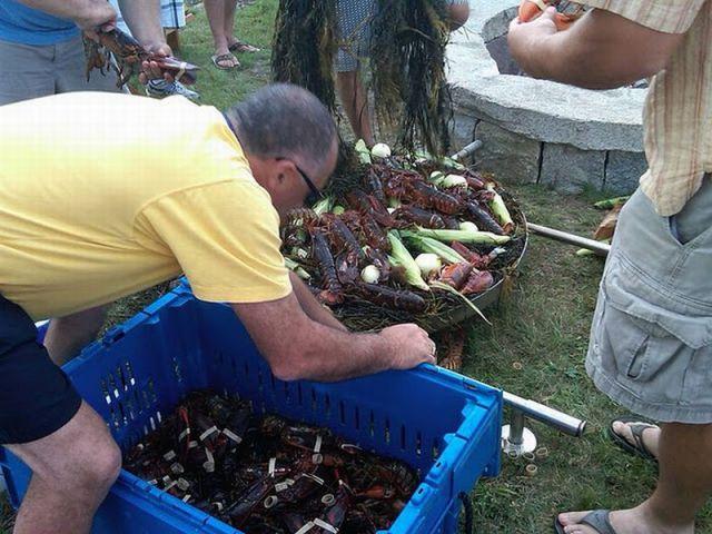Delicious Outdoor Lobster Feast