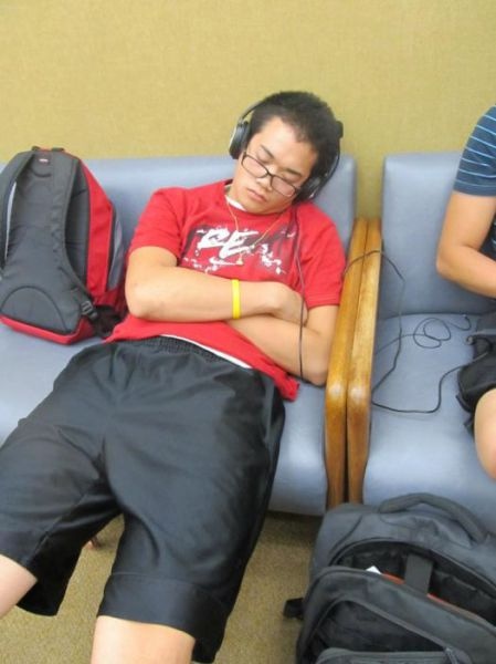 Tired Asian Students