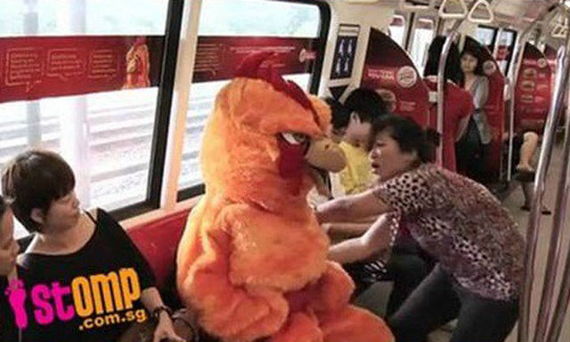 Bird Mascot Shows Who's Boss