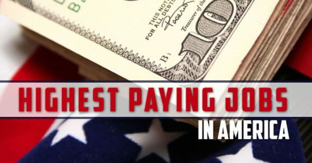 The Best Paid Jobs in America