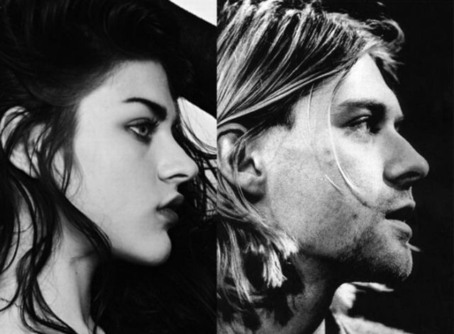 Frances Bean Cobain and Her Father
