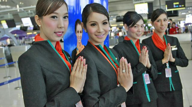Atypical Flight Attendants in Thailand