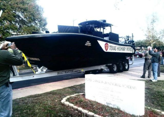 Only in Texas: Huge Highway Patrol Boat