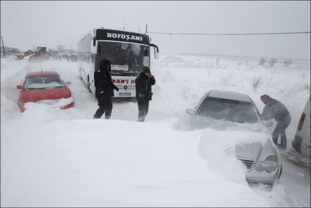 Snow Storm in Romania