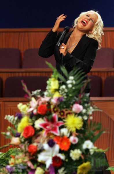 What Is That Liquid Sliding Down Christina Aguilera's Leg?