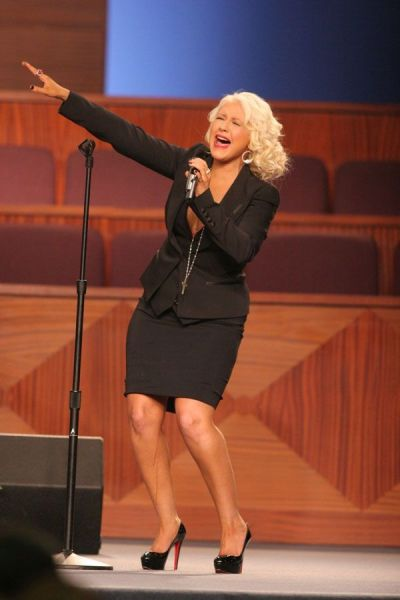 What Is That Liquid Sliding Down Christina Aguilera's Leg?