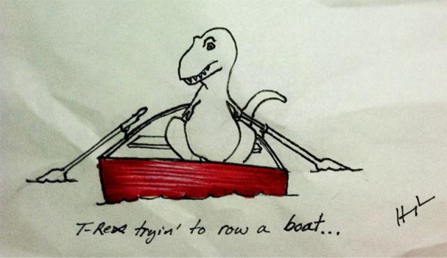 T-Rex Struggling to Do Stuff