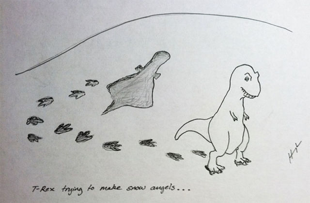 T-Rex Struggling to Do Stuff