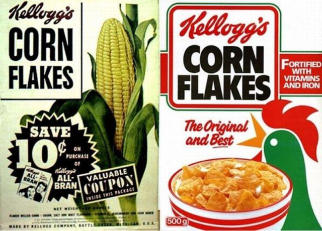 Cereal Boxes Now And Then