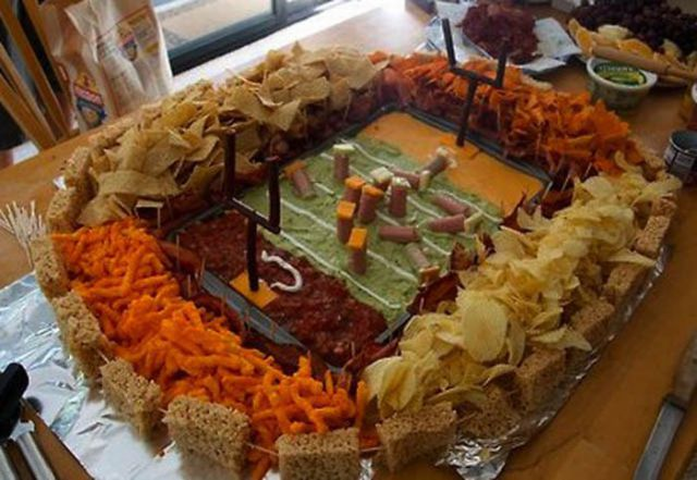 Super Bowl Stadiums Made of Snacks