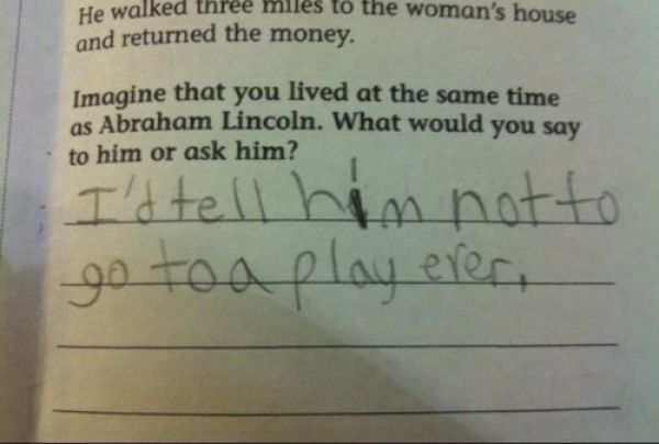 Brutally Honest Kid Test Answers
