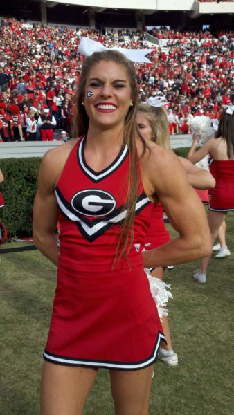 Georgia Cheerleader Gets Buff